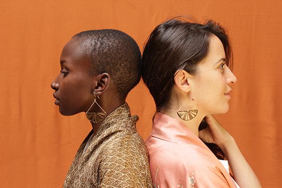 virginie-fantino-lenvers-du-decor-bijoux-Boucles-oreilles-Cédrat-profil-Ange et Lousie